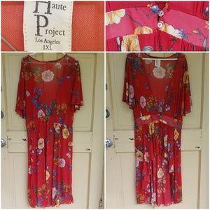 Dresses & Skirts - Haute Project Los Angeles open front cardi dress